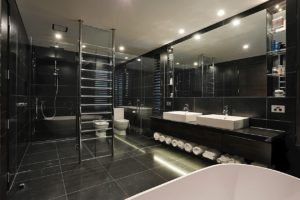 Black Tiling bathroom