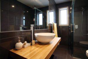 black bathroom tile queenstown