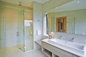 bathroom tiling double vanity beige box 2