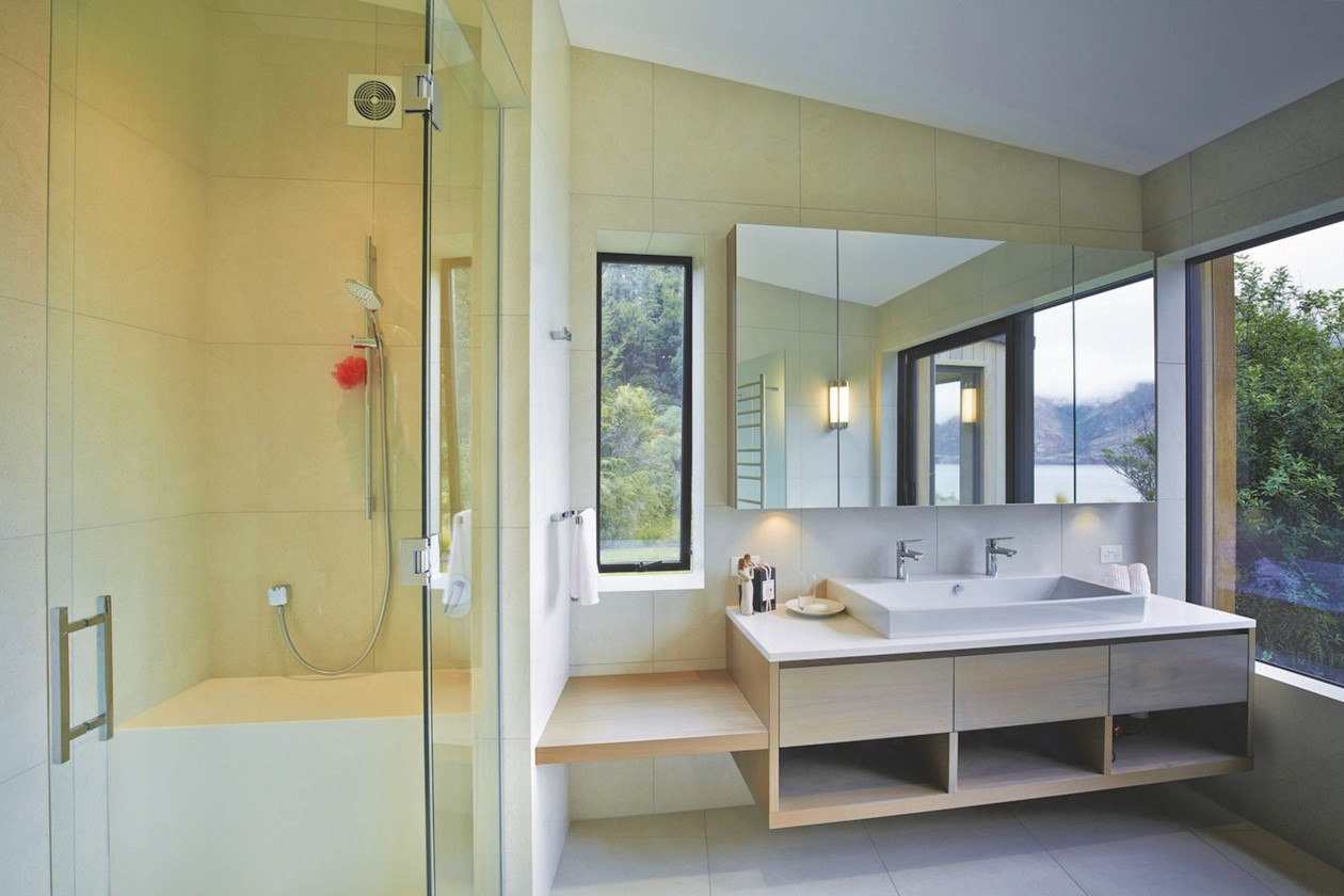 bathroom tiling double vanity beige box